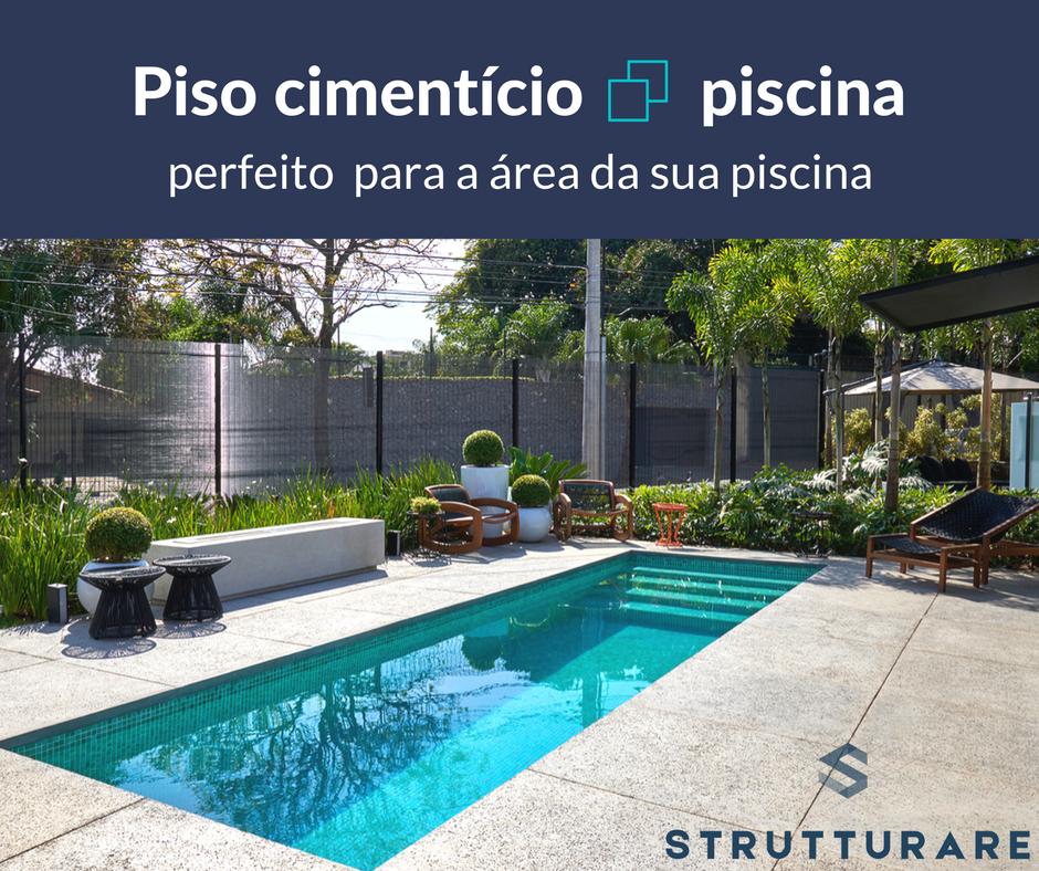 Piso ciment cio piscina perfeito para a rea da sua for Tipos de piscinas para casas